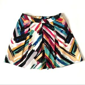 H&M multicolor pleated print mini skirt